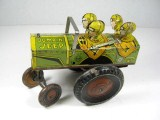Vintage 1940s Marx Toys Tin Litho Wind Up JUMPIN JEEP